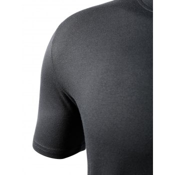 Simple Style Short Sleeves Solid Color T-Shirt For Men - BLACK 2XL