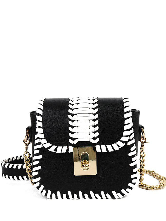 Metal Chain Weaving Crossbody Bag