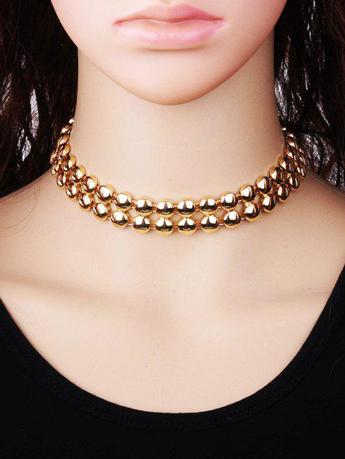 Alloy Round Choker NecklaceJewelry<br><br><br>Color: GOLDEN