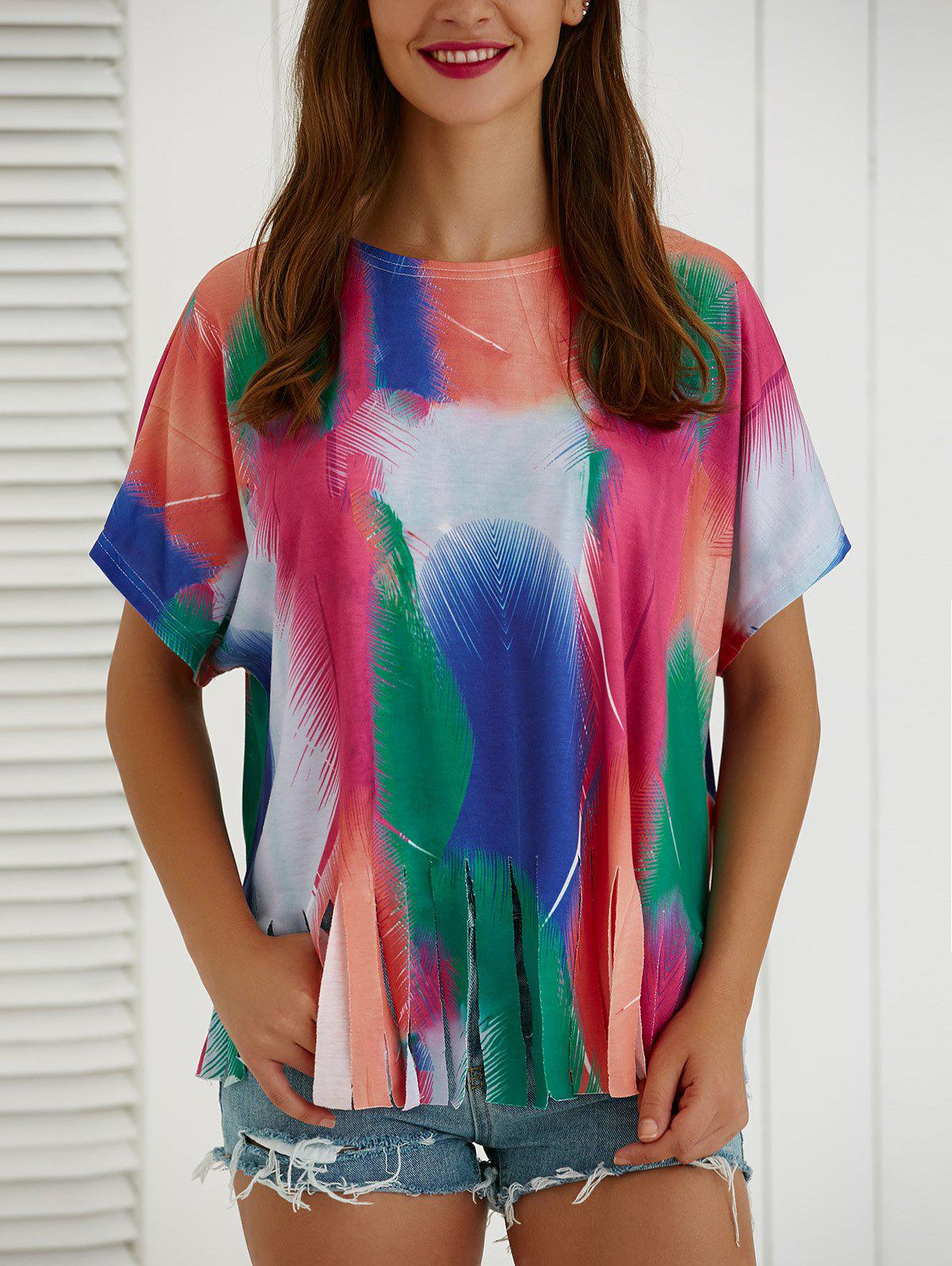 Tie-Dye Short Sleeve Loose T-Shirt - COLORMIX XL
