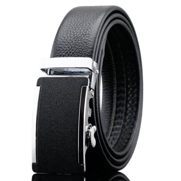 Formal Occasion Automatic Buckle Waist Belt - BLACK