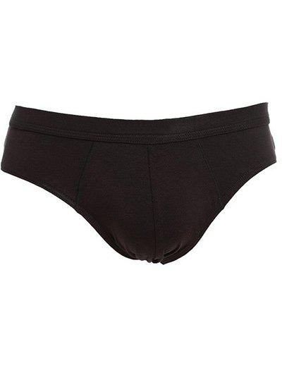 Slimming U Convex Pouch Design Elastic Brief - BLACK 3XL