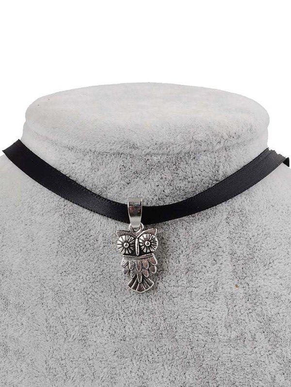 PU Leather Owl Choker - BLACK