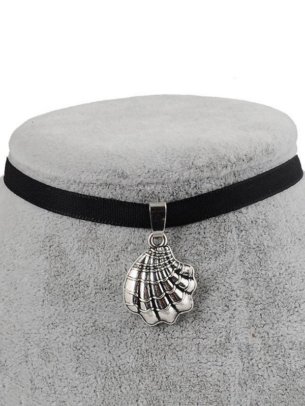 PU Leather Shell Shape Pendant Choker