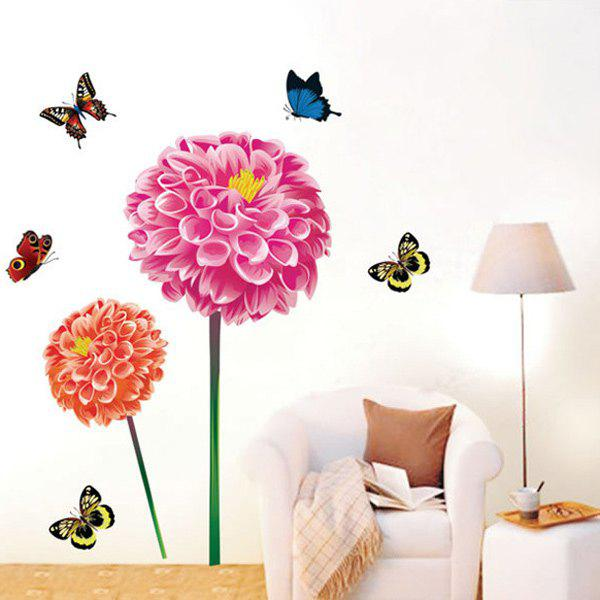 Colorful Romantic Hydrangea Removable 3D Wall Sticker - COLORMIX