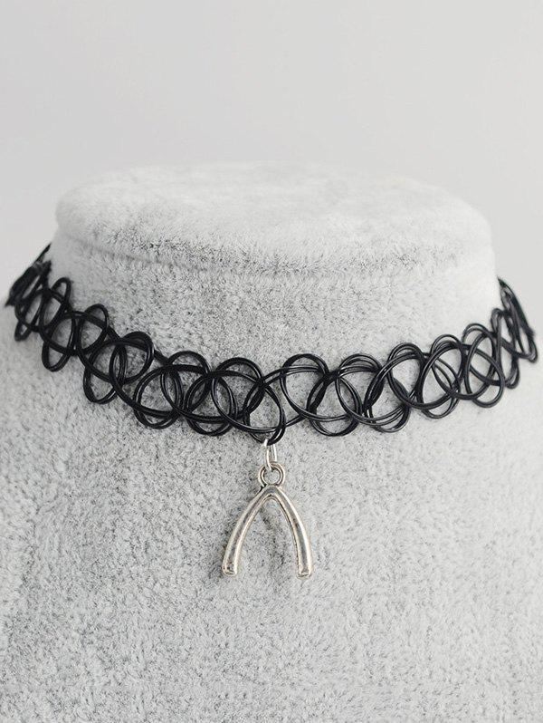 Geometric Shape Hollow Out Tattoo Choker