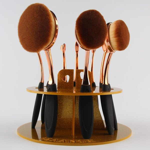 Cosmetic Brushtree Brush Holder Makeup Brush Stand - GOLDEN