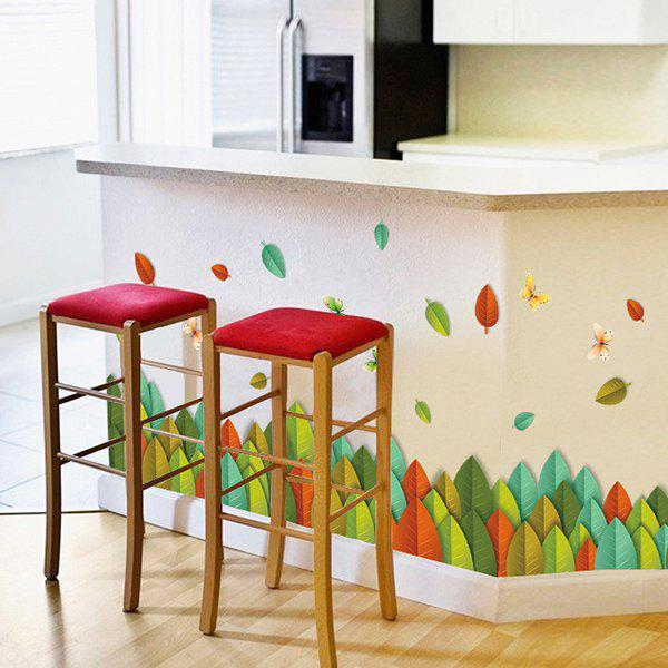 High Quality Colorful Leaves Removable Wall Art Sticker