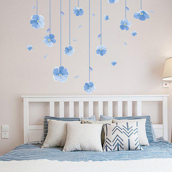Orchid High Quality Removable Decorative Wall Art Sticker - LIGHT BLUE