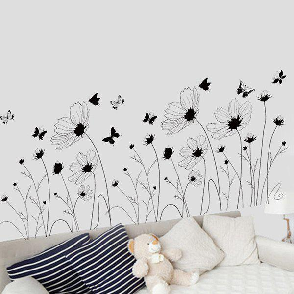 Decorative Simple Floral High Quality Removable Wall Art Sticker simple floral removable high quality decorative wall art sticker