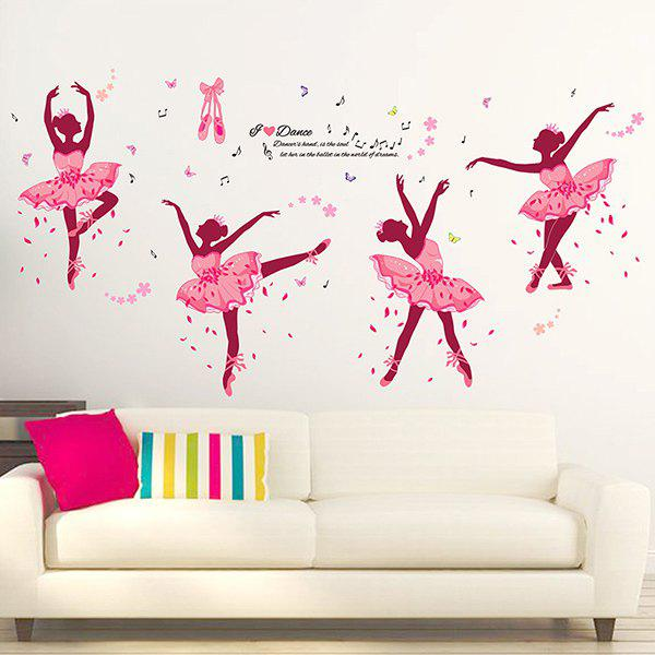 Novelty DIY Ballet Girl Removable Wall Sticker For Kids Room - COLORMIX