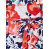 Off-The-Shoulder Floral Overlay Maxi Dress - ORANGEPINK XL