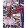 Backless Ethnic Print Sleeveless Dress - COLORMIX S