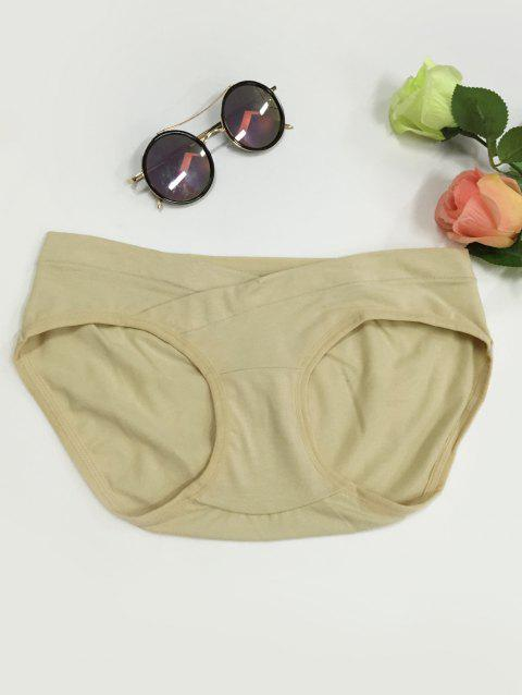 Low-Waisted Seamless Briefs enceintes - Champagne L