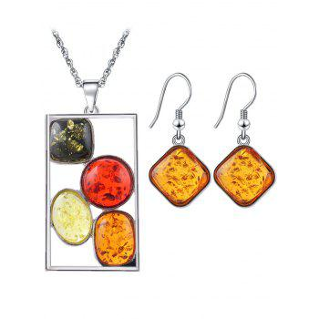 Faux Crystal Insect Geometric Jewelry Set