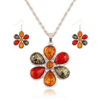Faux Crystal Blossom Jewelry Set