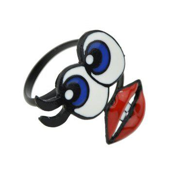 Big Eyes Lips Shape Ring - ONE-SIZE ONE-SIZE