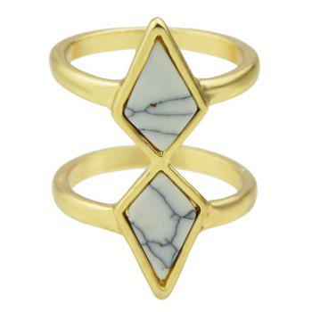 Faux Rammel Geometric Multilayered Ring