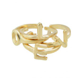 Letters Love Adorn Cuff Rings - ONE-SIZE ONE-SIZE