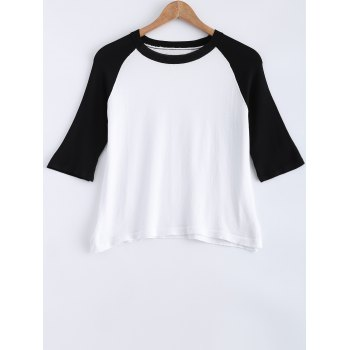 Ribbed Round Neck Slit Knitted T Shirt