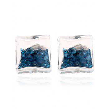 Pair of Rhinestone Stud Earrings