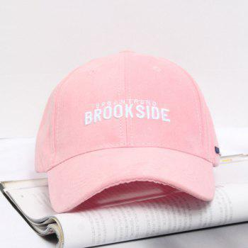 Summer Casual Letters Embroidery Faux Suede Baseball Hat
