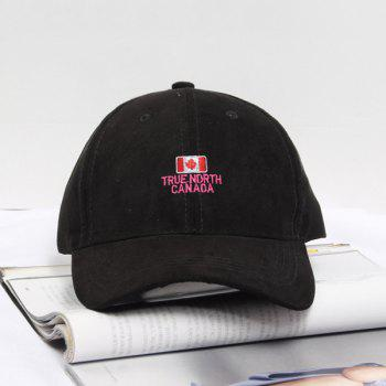 Summer Casual Canada Flag and Letters Embroidery Faux Suede Baseball Hat