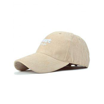 Casual Letters Faux Suede Baseball Hat