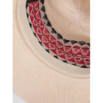 Casual Geometry Knitted Jazz Hat - OFF WHITE