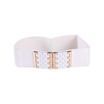 Brick Shape Buckles Elastic Wide Belt