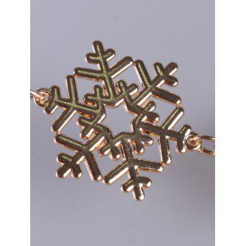 Metal Snowflake Waist Belt Chain - GOLDEN