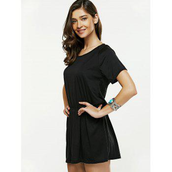 Hollow Out Backless Mini Dress - S S
