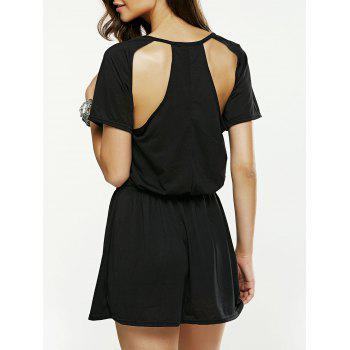 Hollow Out Backless Mini Dress