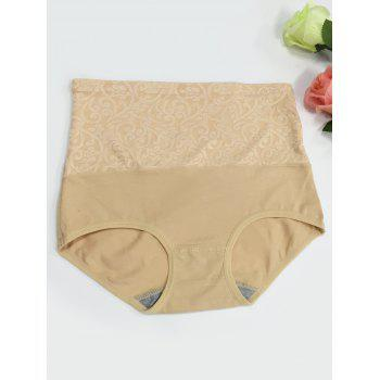 High Waisted Jacquard Briefs