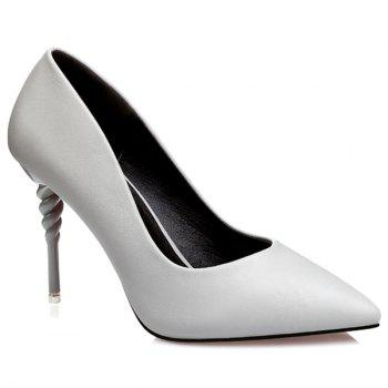 PU Leather Strange Heel Work Pumps