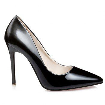 Gradient Color Stiletto Heel Pointed Toe Pumps - BLACK 39