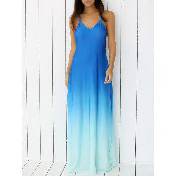 Bohemian Backless Cami Flowing Casual Maxi Fitted Dress