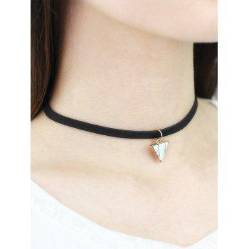 Faux Rammel Triangle Choker Necklace