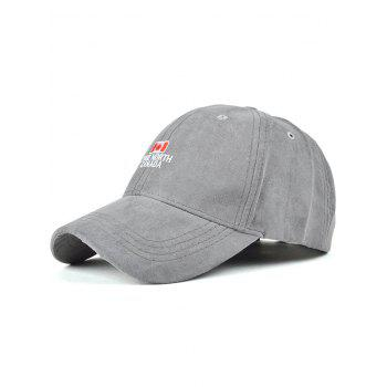 Casual Letters and Canada Flag Embroidery Faux Suede Baseball Hat