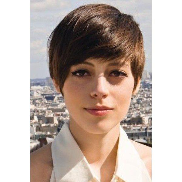 Spiffy Short Straight Capless Inclined Bang Synthetic Wig