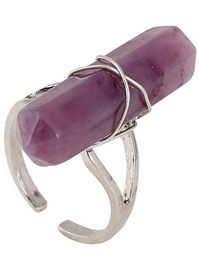 Faux Gemstone Hollowed Ring