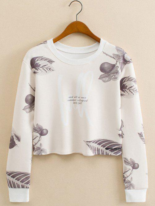 Leaf Figure Cropped Long Sleeve Sweatshirt kitty family cropped long sleeve sweatshirt