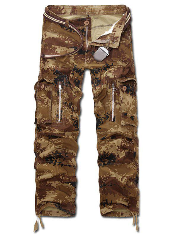 Buy Zipper Fly Straight Leg Desert Camo Multi-Pocket Design Pants MARPAT DESERT