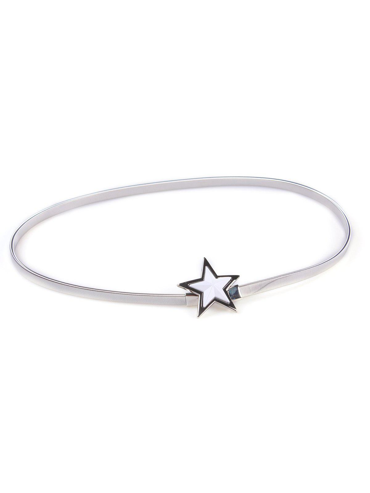 Metal Star Waist Belt - SILVER