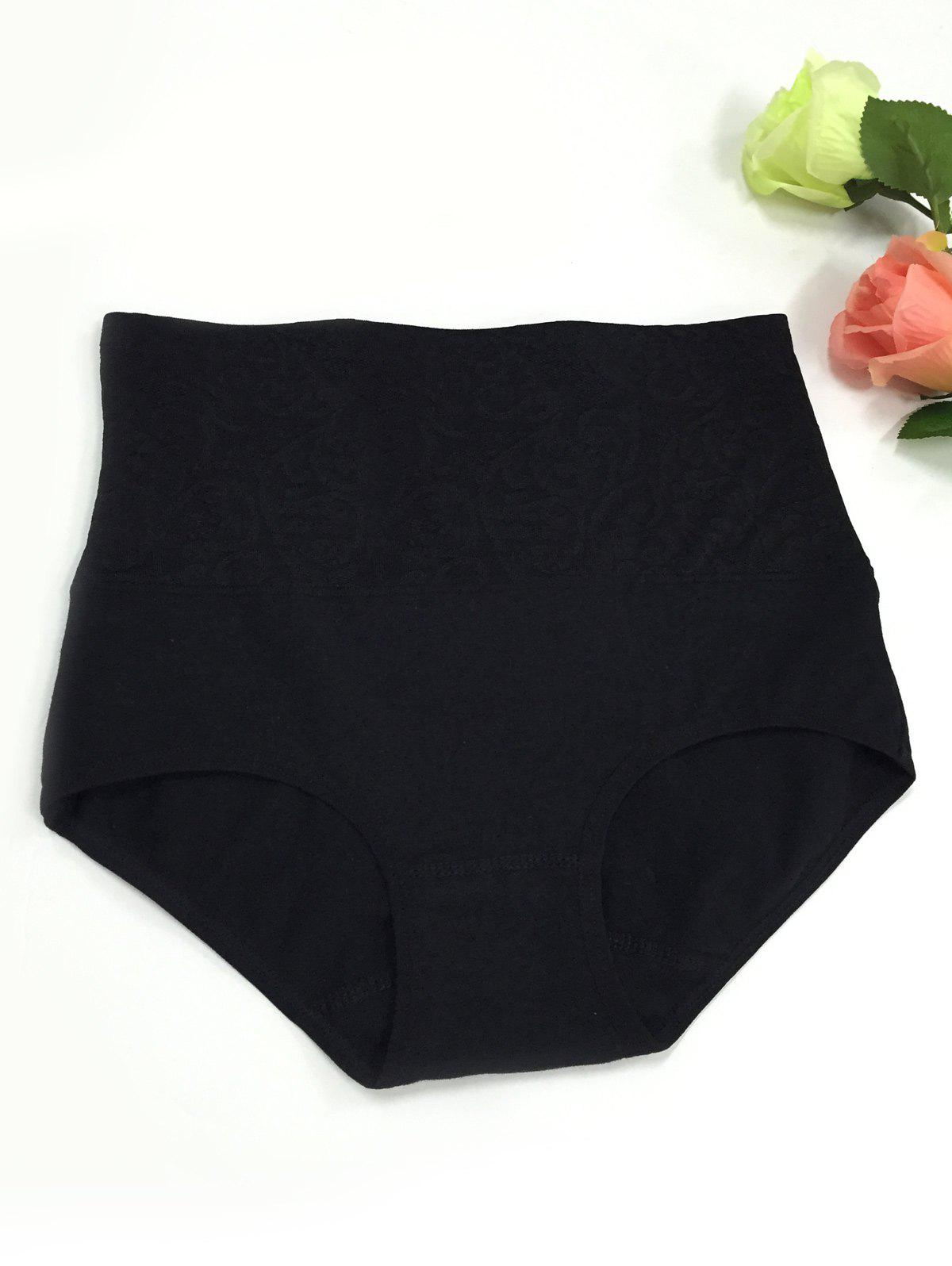 High-Waisted Slimming Briefs - BLACK ONE SIZE