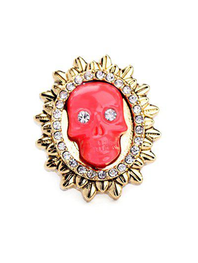 Cut Out Rhinestone Sun Skull Ring - LAKE