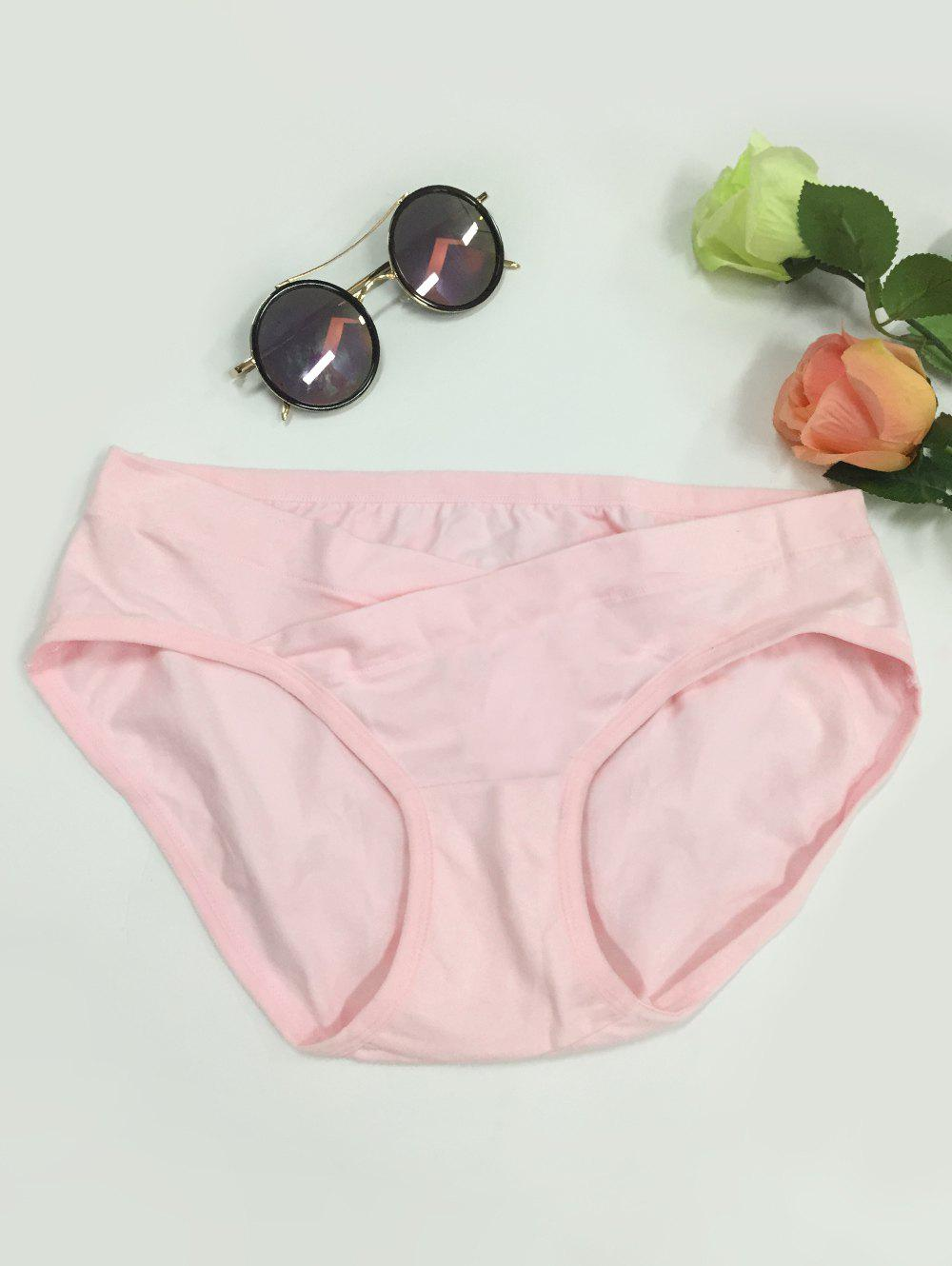 Low-Waisted Seamless Pregnant Briefs - PINK 3XL