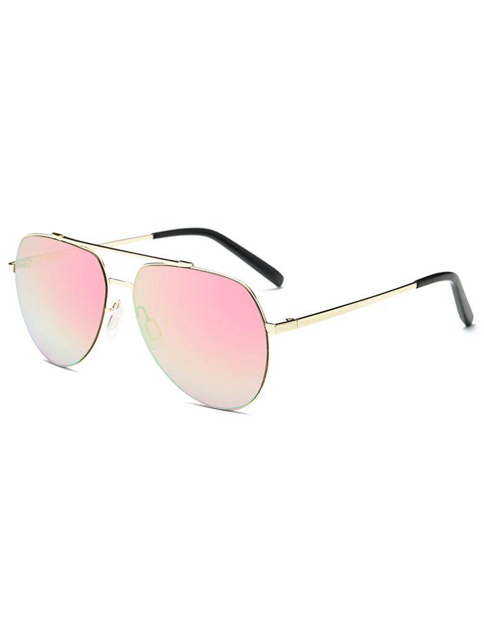 Cool Mirrored Pilot Sunglasses - PINK
