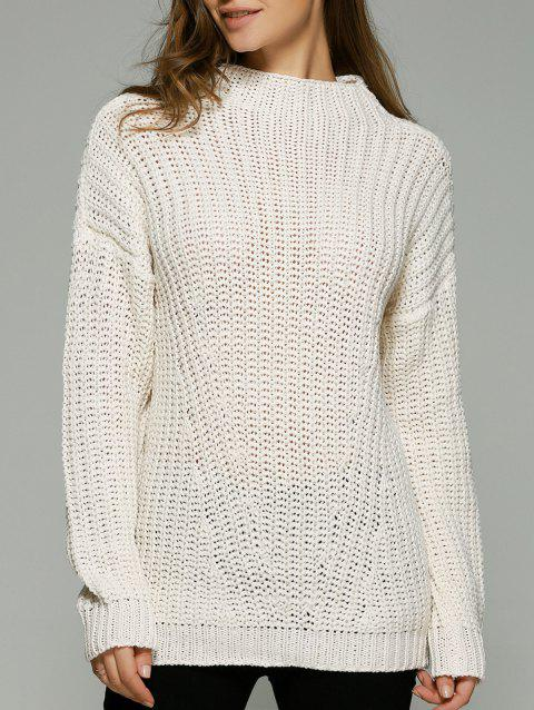 Évider Crochet Sweater - Blanc Cassé ONE SIZE(FIT SIZE XS TO M)