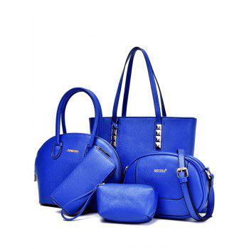 Casual Solid Color and Stitching Design Women's Tote Bag